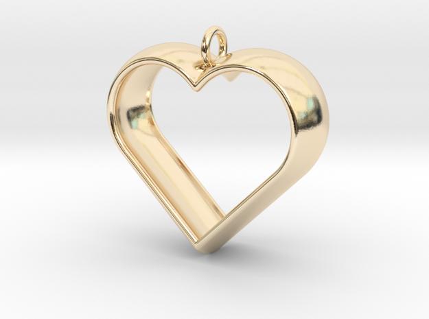 Stylized Heart Pendant 3d printed