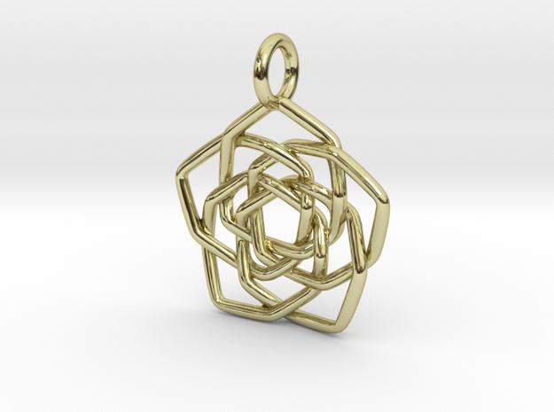Discordian Mandala Pendant 3d printed