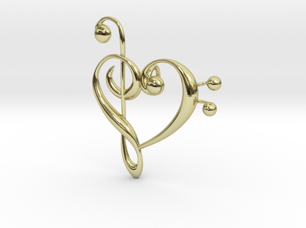 Love Of Music Pendant in 18K Gold Plated