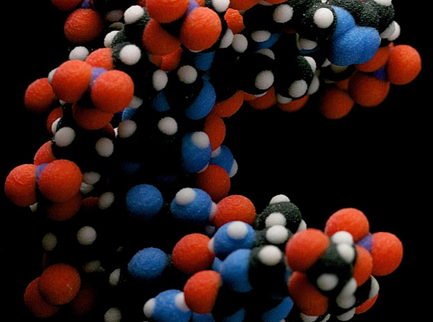 Triazole-linked DNA double helix 3d printed