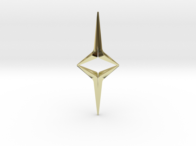 YOUNIVERSAL Sharp Duo, Pendant in 18K Gold Plated