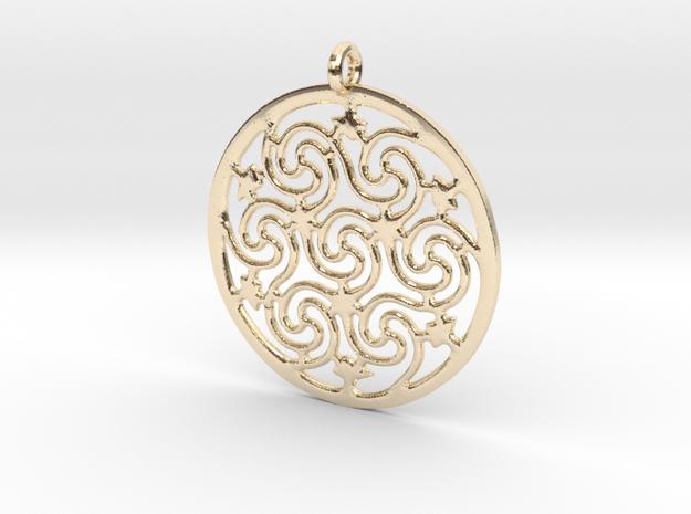 Celtic Seven Spiral Pendant 3d printed