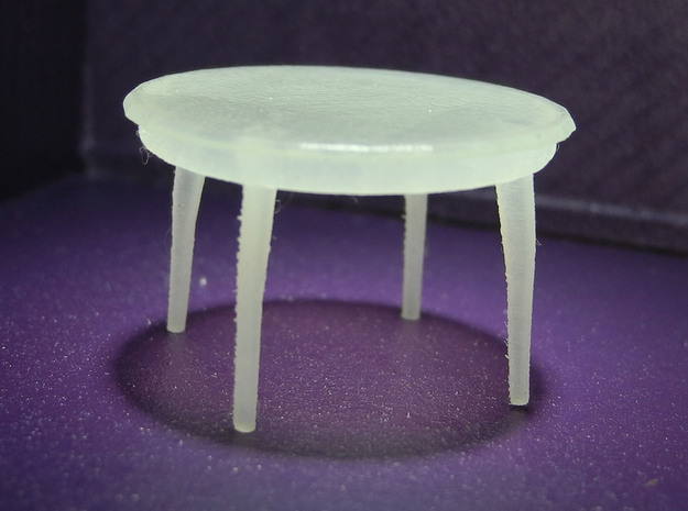 1:48 Moderne Dining Table in Smooth Fine Detail Plastic