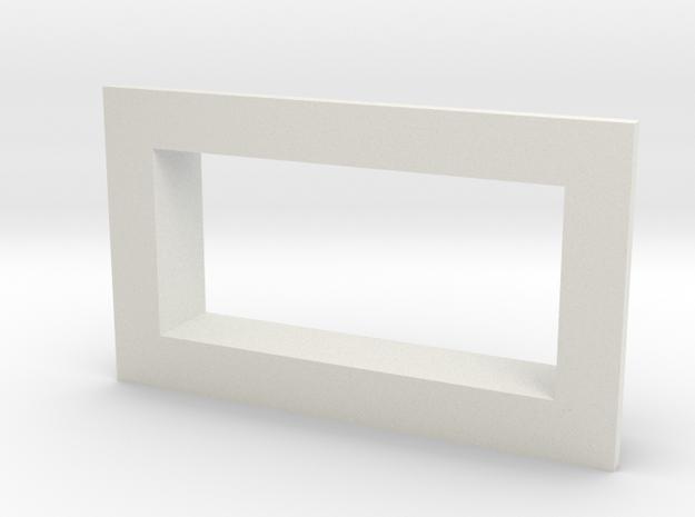 Square .28 Voltmeter Bezel in White Natural Versatile Plastic