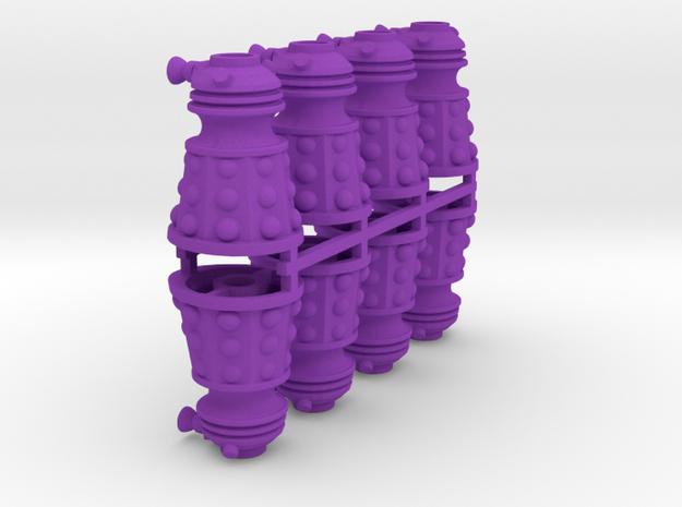 Dalek Post Version A 8x in Purple Processed Versatile Plastic