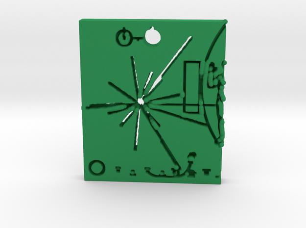 Pioneer Plaque Pendant in Green Processed Versatile Plastic