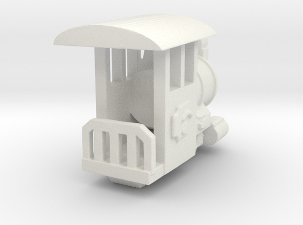 Rio Grande HO scale Engine in White Natural Versatile Plastic