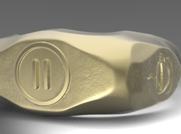 """UK m size """"Pause"""" ring, first edition. in 14k Gold Plated"""
