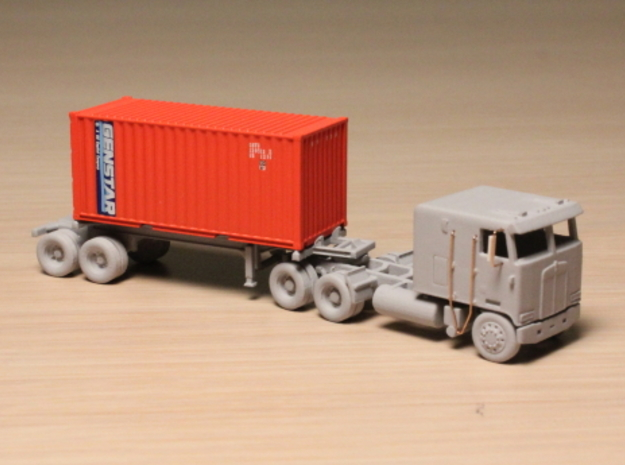 1:160 N Scale 20' Container Slider Chassis 3d printed