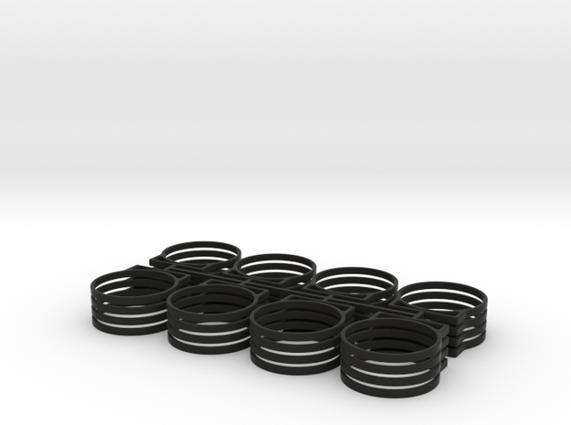 .75 TANK BRACKET in Black Natural Versatile Plastic