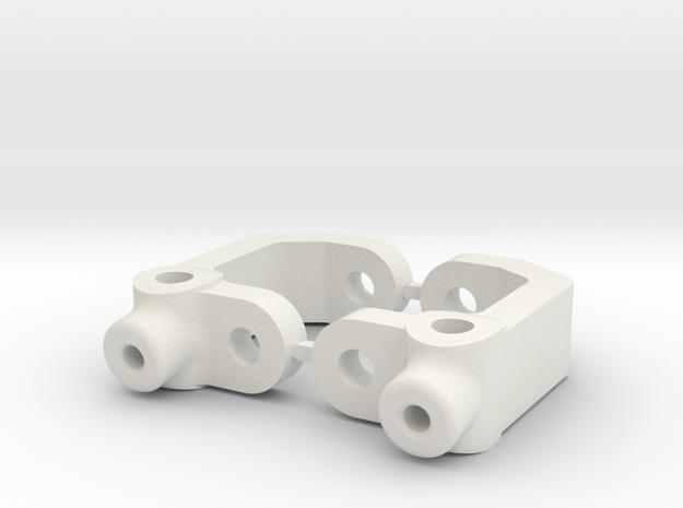 RC10B3 - 7.5 DEGRE - DIRT OVAL - CASTOR BLOCK in White Strong & Flexible