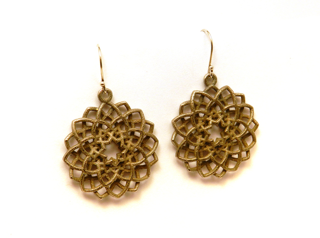 Mandala Flower Earrings in Stainless Steel