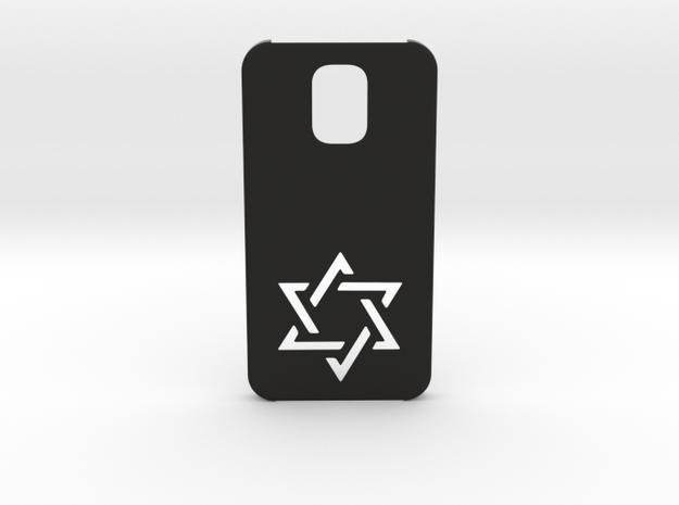 Samsung Galaxy S5 Case: Israëli Star in Black Natural Versatile Plastic