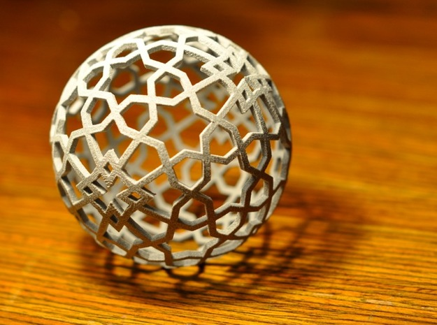 Islamic star ball with 6-pointed stars