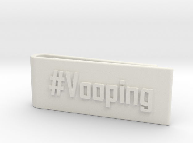 #Vooping Money Clip in White Strong & Flexible