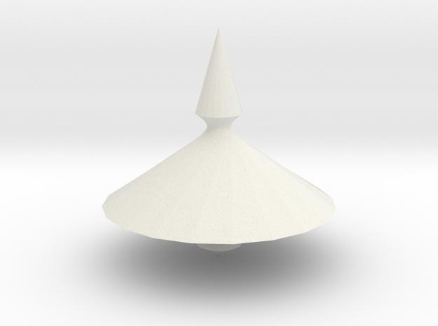 Spinning top PT v1 in White Natural Versatile Plastic