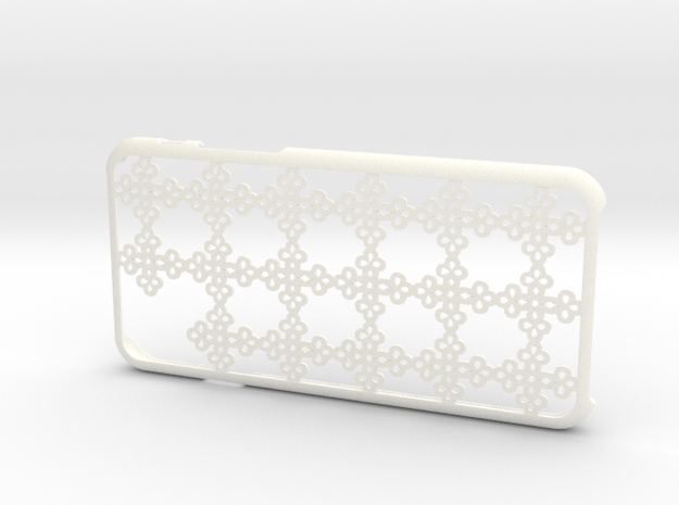 Cross iPhone6 case for 4.7inch in White Processed Versatile Plastic