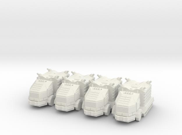Troop Truck Platoon 10mm in White Natural Versatile Plastic