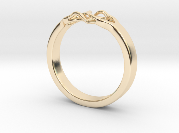 Roots Ring (22mm / 0,86inch inner diameter) in 14K Yellow Gold