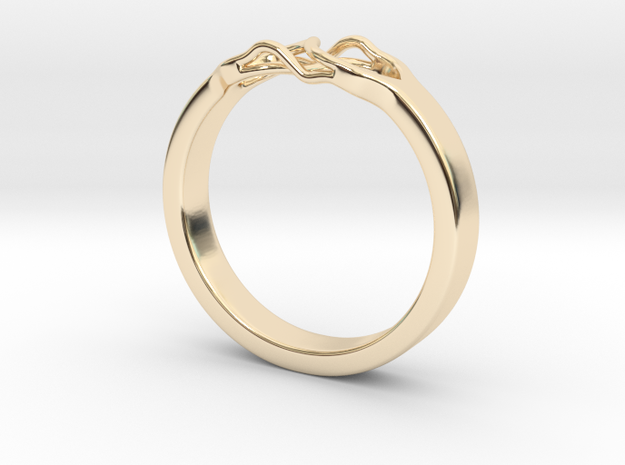 Roots Ring (30mm / 1,18inch inner diameter) in 14K Yellow Gold