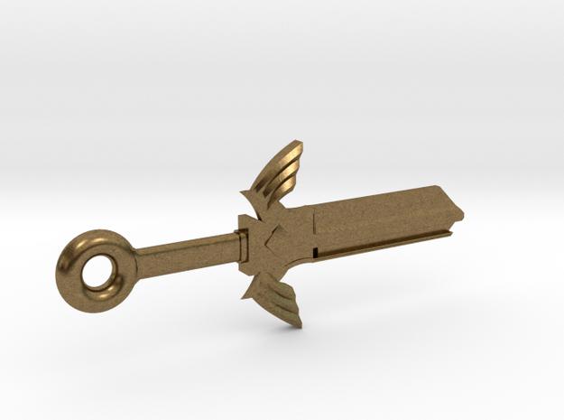 Zelda Master Sword House Key Blank - KW1/66 in Raw Bronze