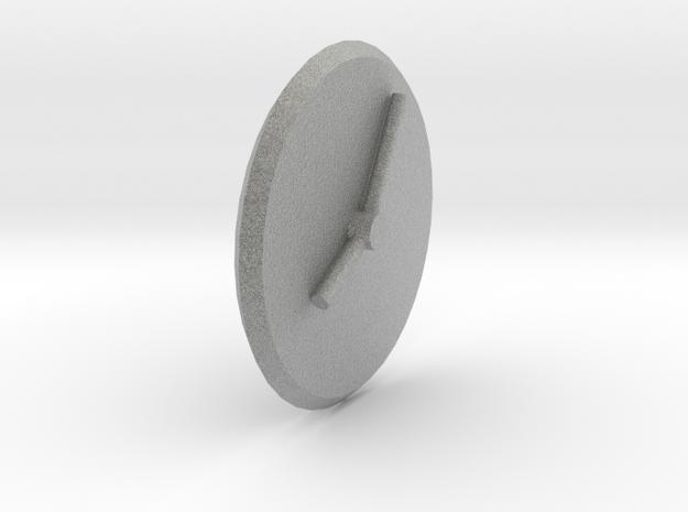 Clock in Metallic Plastic