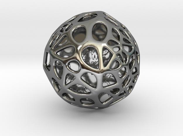 ZWOOKY Style 3408  -  Sphere in Fine Detail Polished Silver