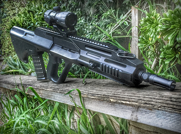 Airsoft AUG A3 Conversion Front in Black Natural Versatile Plastic