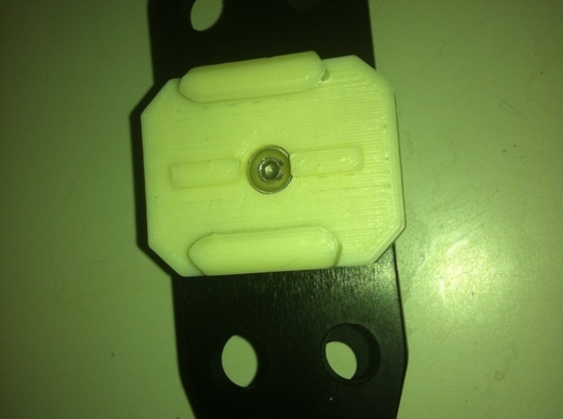 GoPro Mount with M5 Screw Hole in White Natural Versatile Plastic