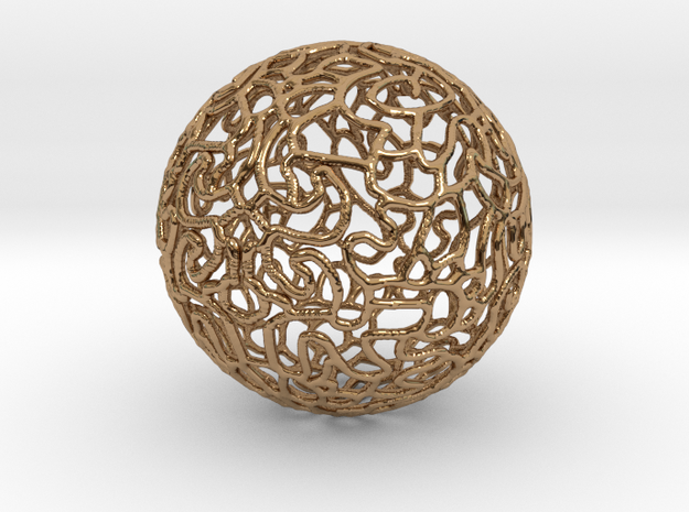 Ornament Ball in Polished Brass