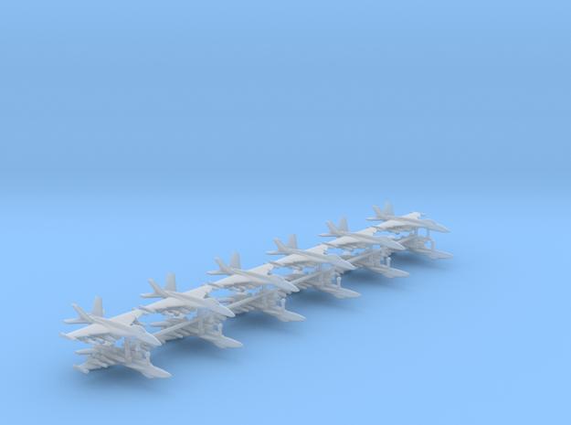 1/350 F-18E Super Hornet (Anti-Ship Loadout) (x12) in Smooth Fine Detail Plastic