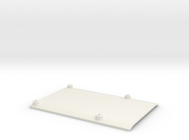 Raspberry PI B+ Bottom Part case / enclosure in White Natural Versatile Plastic