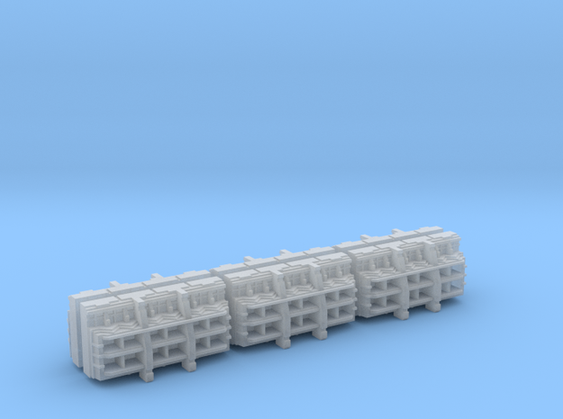 Gothic Spaceship Launch Bay Modules [Pack of 6] in Frosted Ultra Detail