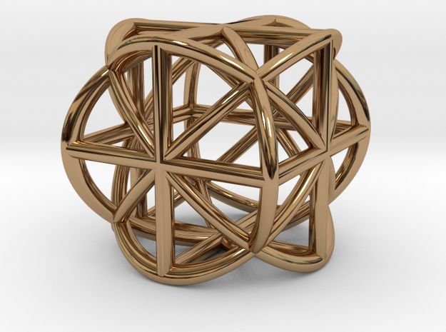 Cube-Ball Pendant in Polished Brass