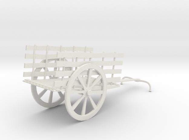 Indian Bullock Cart in White Natural Versatile Plastic: 1:76 - OO