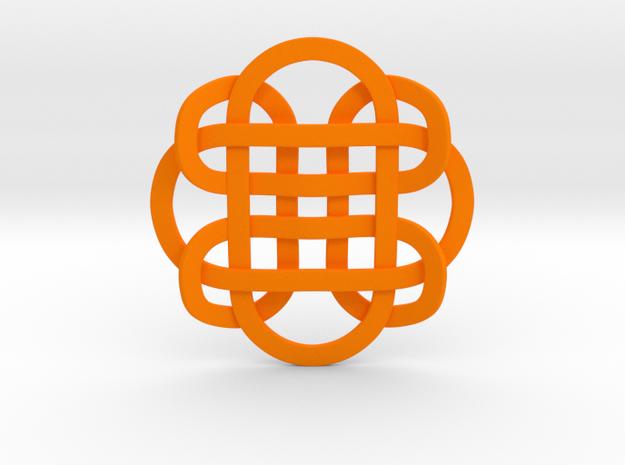 Designer Kolam Pendant in Orange Processed Versatile Plastic