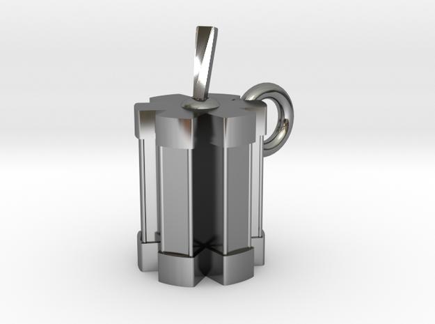 Futurama Freewill Unit Pendant in Premium Silver