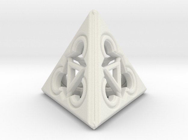 TRINITY RINGS (figurine) in White Strong & Flexible
