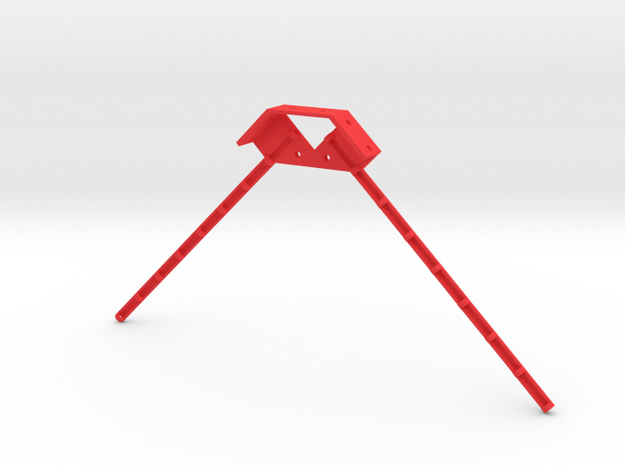 Dual Antenna Mount in Red Processed Versatile Plastic