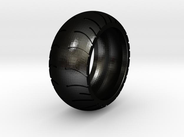 Chopper Rear Tire Ring Size 10 in Matte Black Steel
