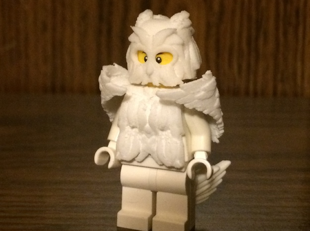 Minifigure Winged (Owl) Armor Set in White Strong & Flexible