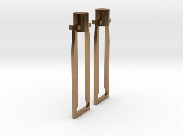 HO cross head hangers in Raw Brass