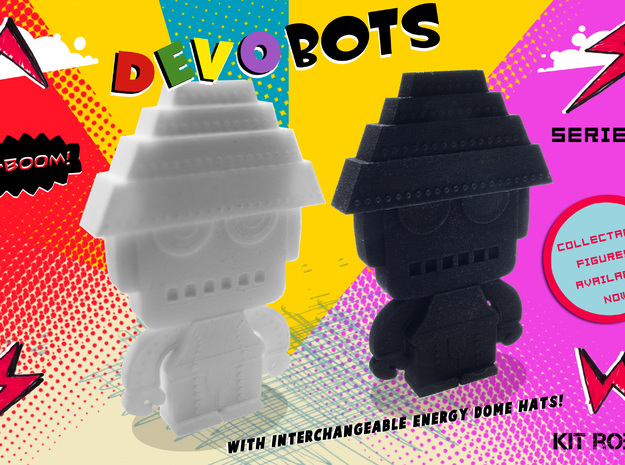 DevoBots Series 1 Pink bio suit with Green energy  3d printed