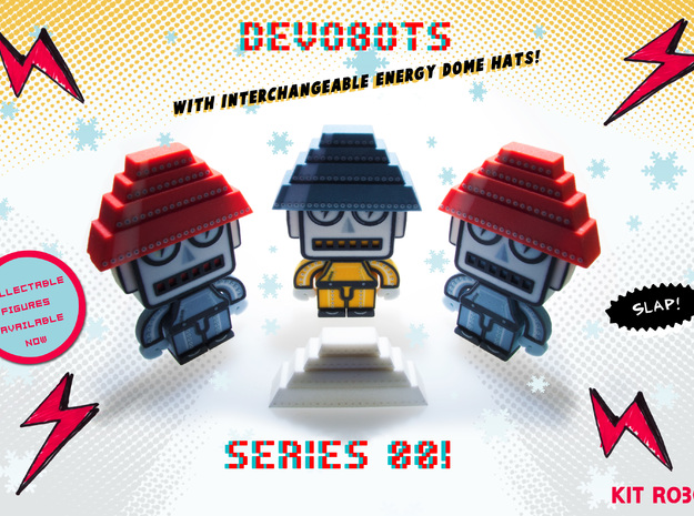 DevoBots Series 1 B/W with Pink Energy Dome : Bob 3d printed