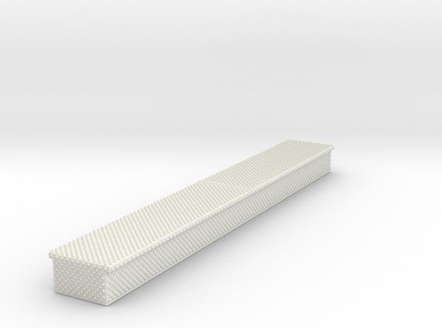 1/87 Long Diamond plate storage box in White Strong & Flexible
