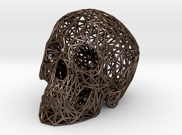 Wirehead in Polished Bronze Steel