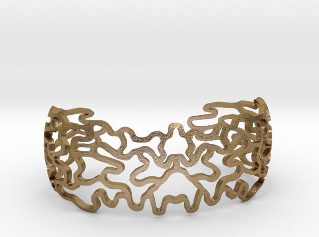 Ornamentbracelet in Polished Gold Steel