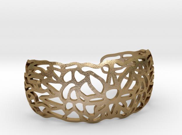Ornamentbracelet2 in Polished Gold Steel
