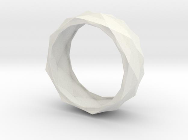 Origami Bracelet in White Natural Versatile Plastic