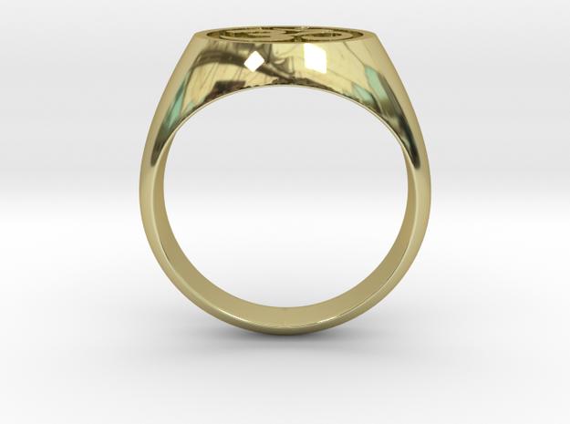 Om Symbol ring in 18k Gold Plated Brass